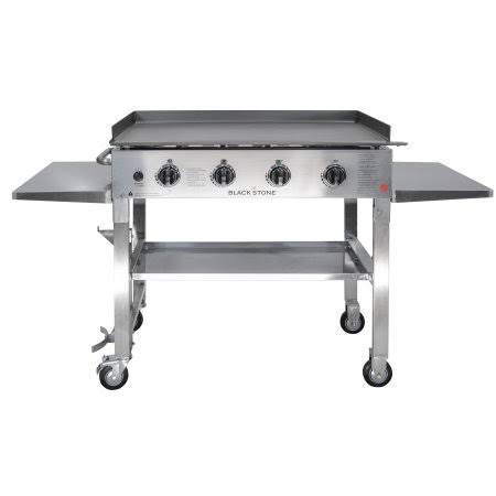 Blackstone Stainless Steel Outdoor Flat Top Gas Grill Griddle Station - 36""