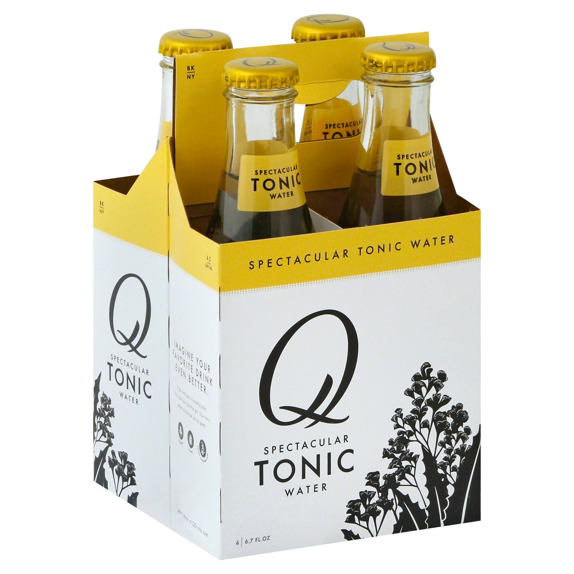 Q Drinks Tonic Water - 4pk, 6.7oz
