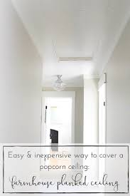 Armstrong Woodhaven Ceiling Planks by Best 25 Covering Popcorn Ceiling Ideas On Pinterest Popcorn