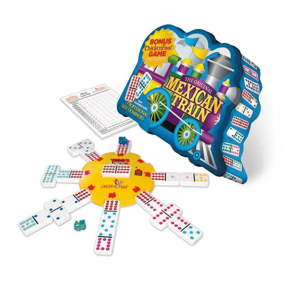 Mexican Train Deluxe Double 12 Domino Game with Dots
