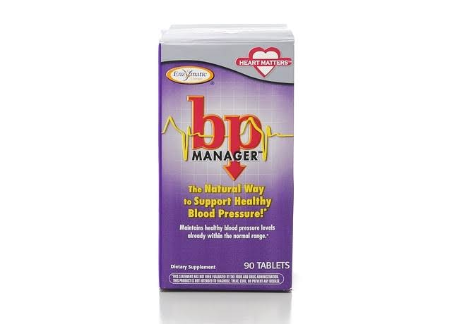 BP Manager Enzymatic Therapy Blood Pressure Dietary Supplement - 90 Tablets