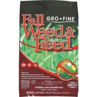Fortify Gro-Fine GF23300 18-0-12 Winterizer Fall Weed and Feed Fertilizer