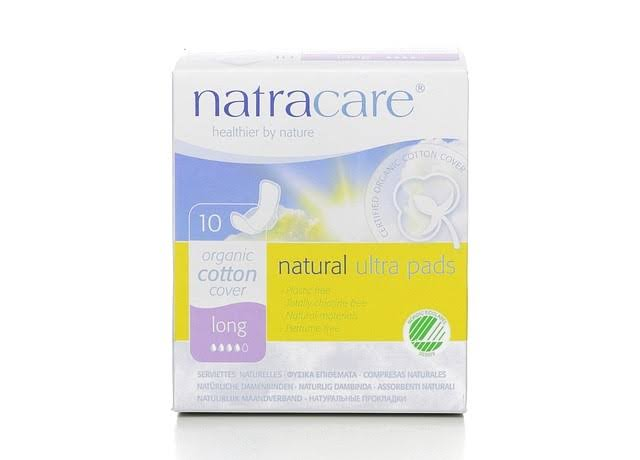 Natracare Ultra Long Pads & Wings - 10 Pads