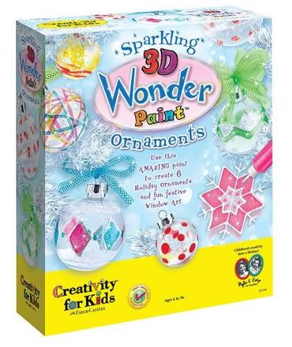 Faber-Castell Creativity for Kids Sparkling 3D Wonder Paint Ornaments