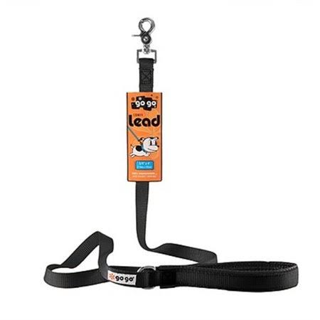 Gogo Pet Comfy Nylon Dog Leash - Black, 6ft