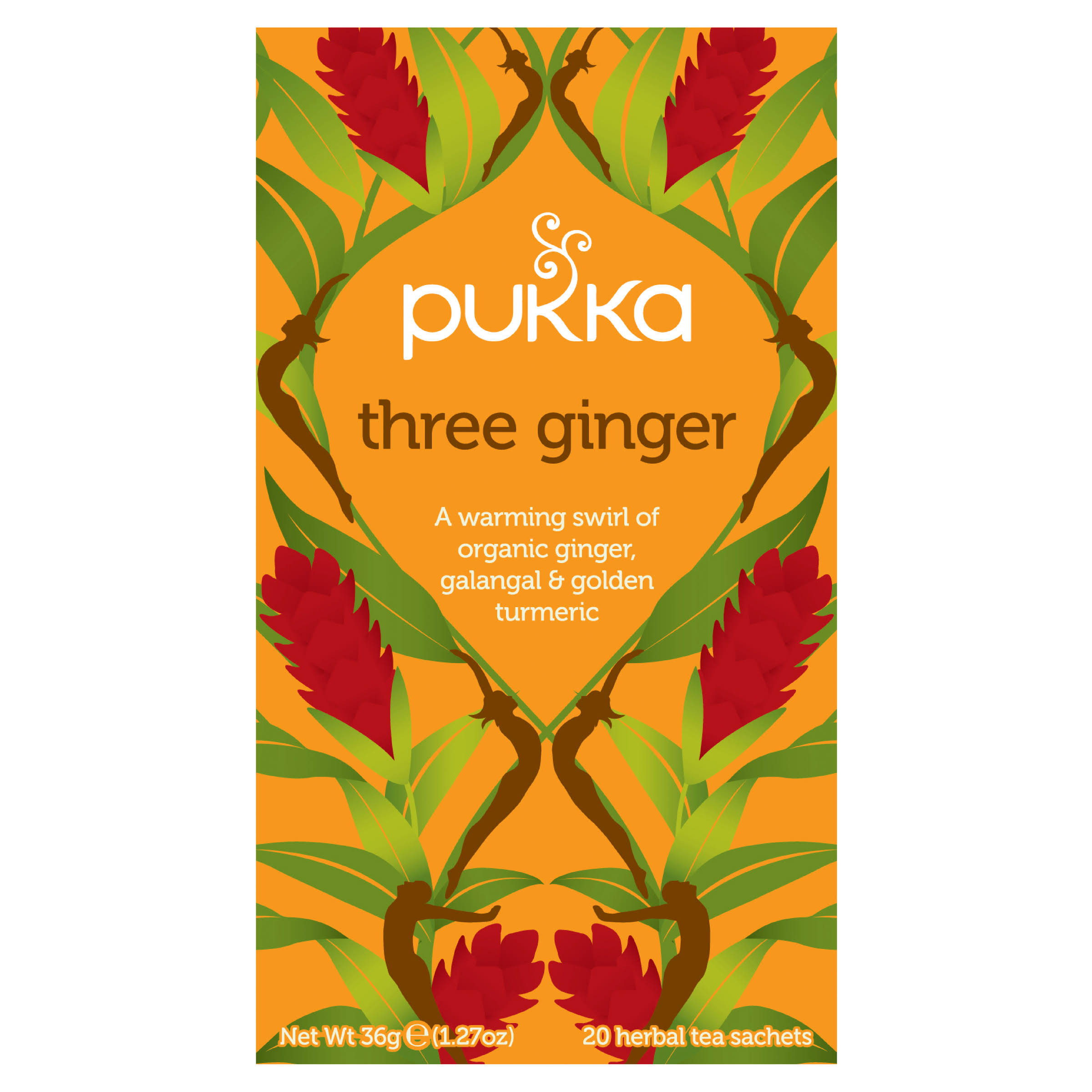 Pukka Organic Herbal Tea - Three Ginger, 36g, 20ct