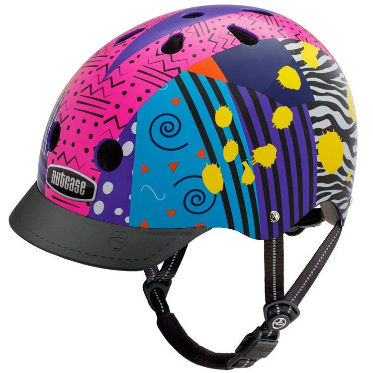 Nutcase Patterned Street Bike Helmet - Totally Rad, Medium