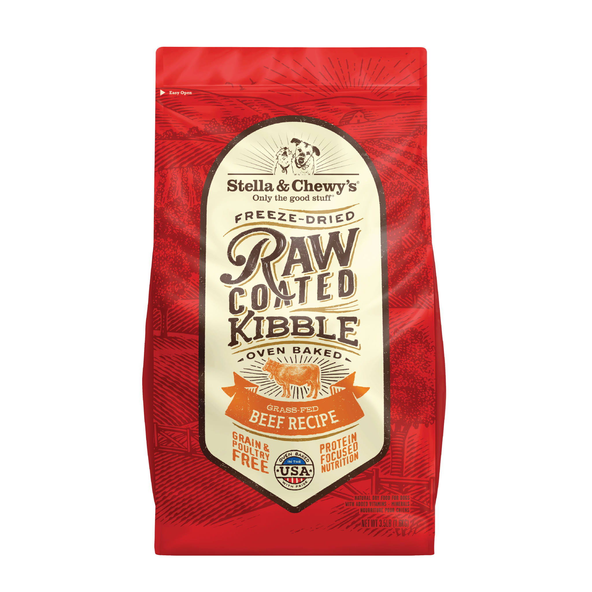 Stella & Chewy's Raw Coated Kibble Grass-Fed Beef Dog Food - 3.5 lbs.