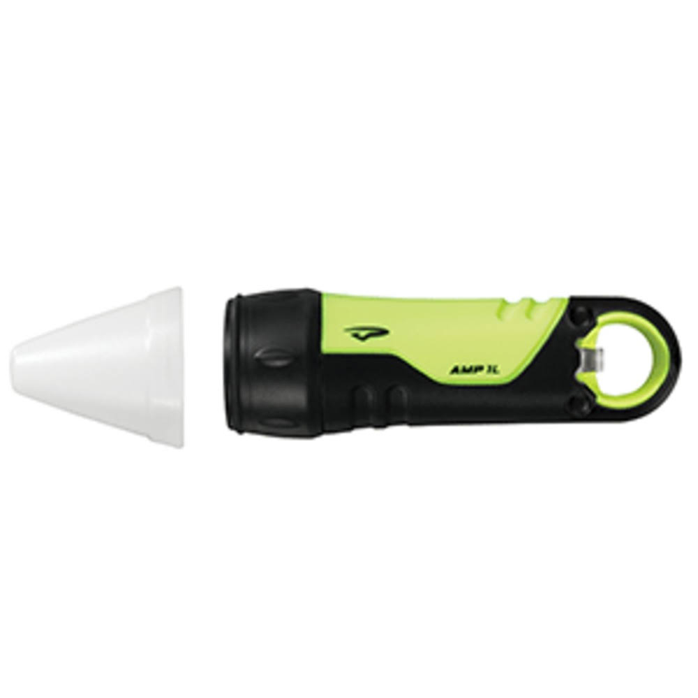 Princeton Tec Amp with Cone LED Flashlight - Neon Yellow, 90 Lumens