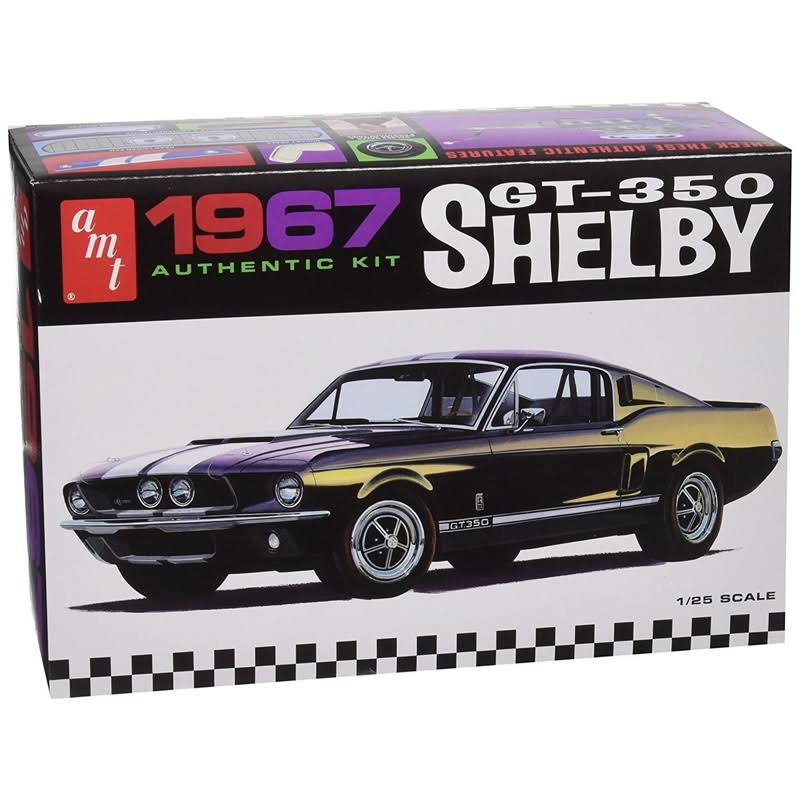 AMT 800 1/25 1967 Shelby Gt350 White Plastic Model Kit