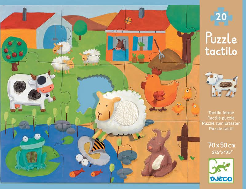 Djeco Farm Tactile Giant Jigsaw Puzzle - 20 Pieces