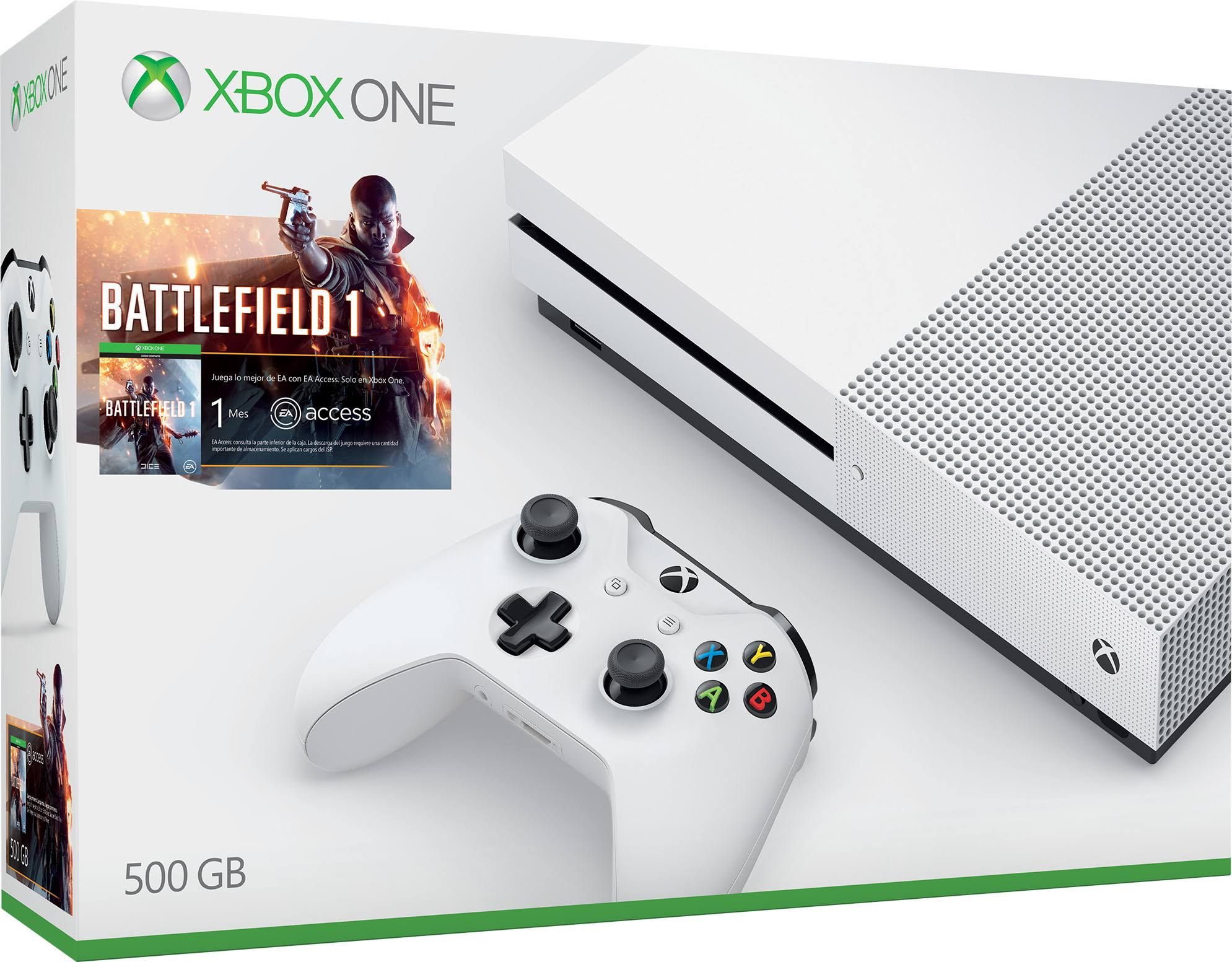 Microsoft Xbox One S Battlefield 1 Bundle - 500gb