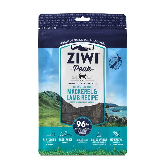 ZiwiPeak Cat Food - Mackerel & Lamb, 400g