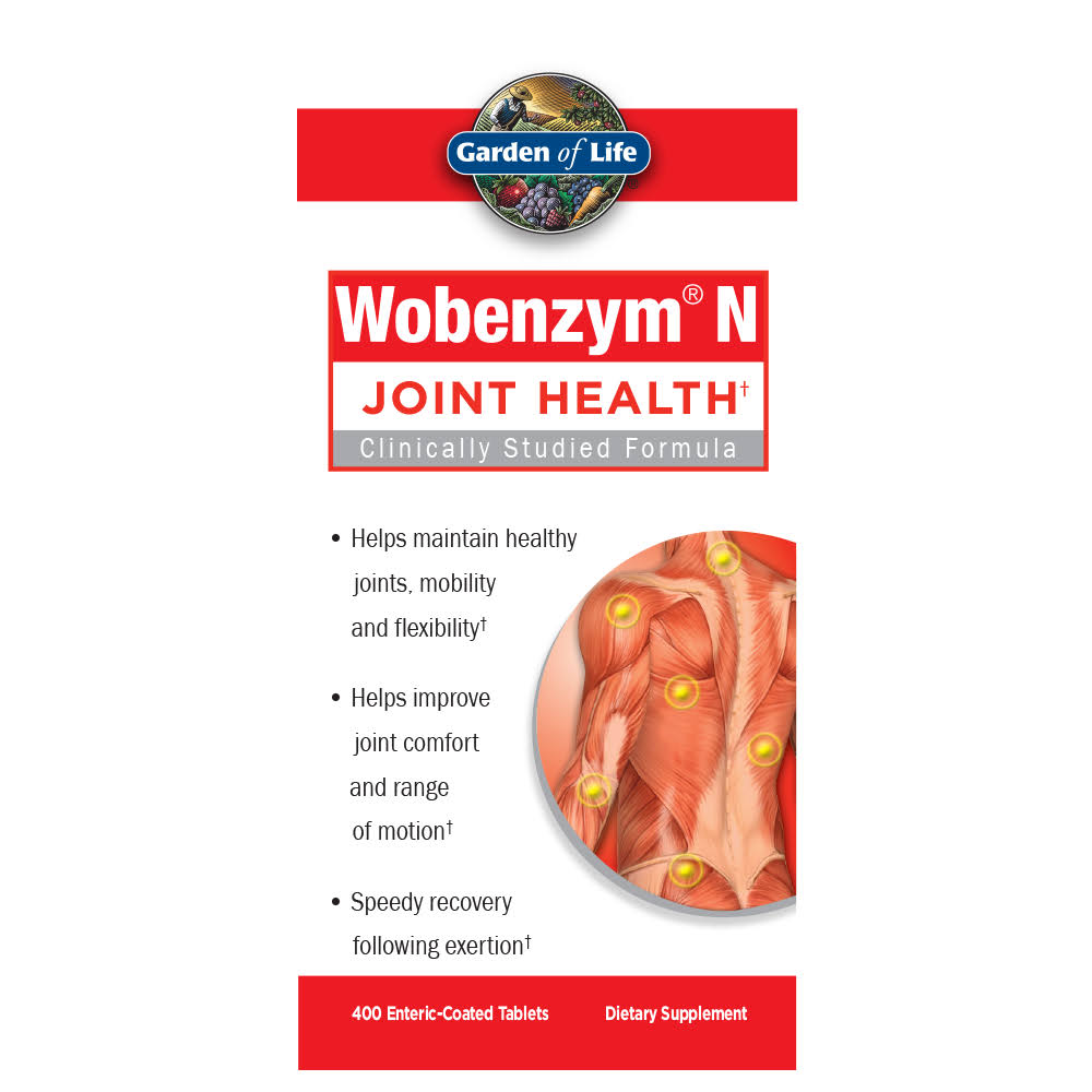 Garden of Life Wobenzym N Healthy Inflammation & Joint Support - 400 Tablets