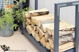 diy rolling firewood cart the wood grain cottage