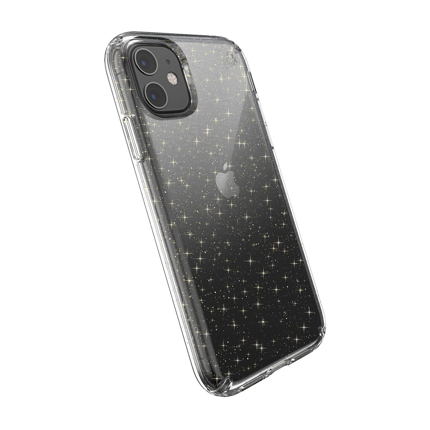 Speck iPhone 11 Presidio Clear + Glitter Clear with Gold Glitter/Clear