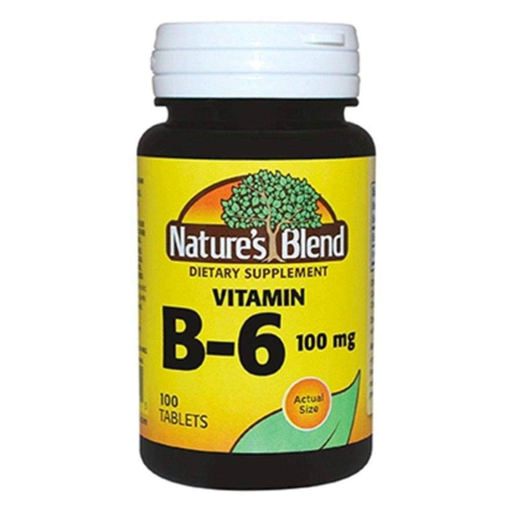 Nature's Blend Vitamin B 6 - 100mg, 100ct