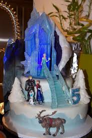 Rice Krispie Christmas Tree Cake by Disney Frozen Themed Birthday Cake Castle And Stares Made From