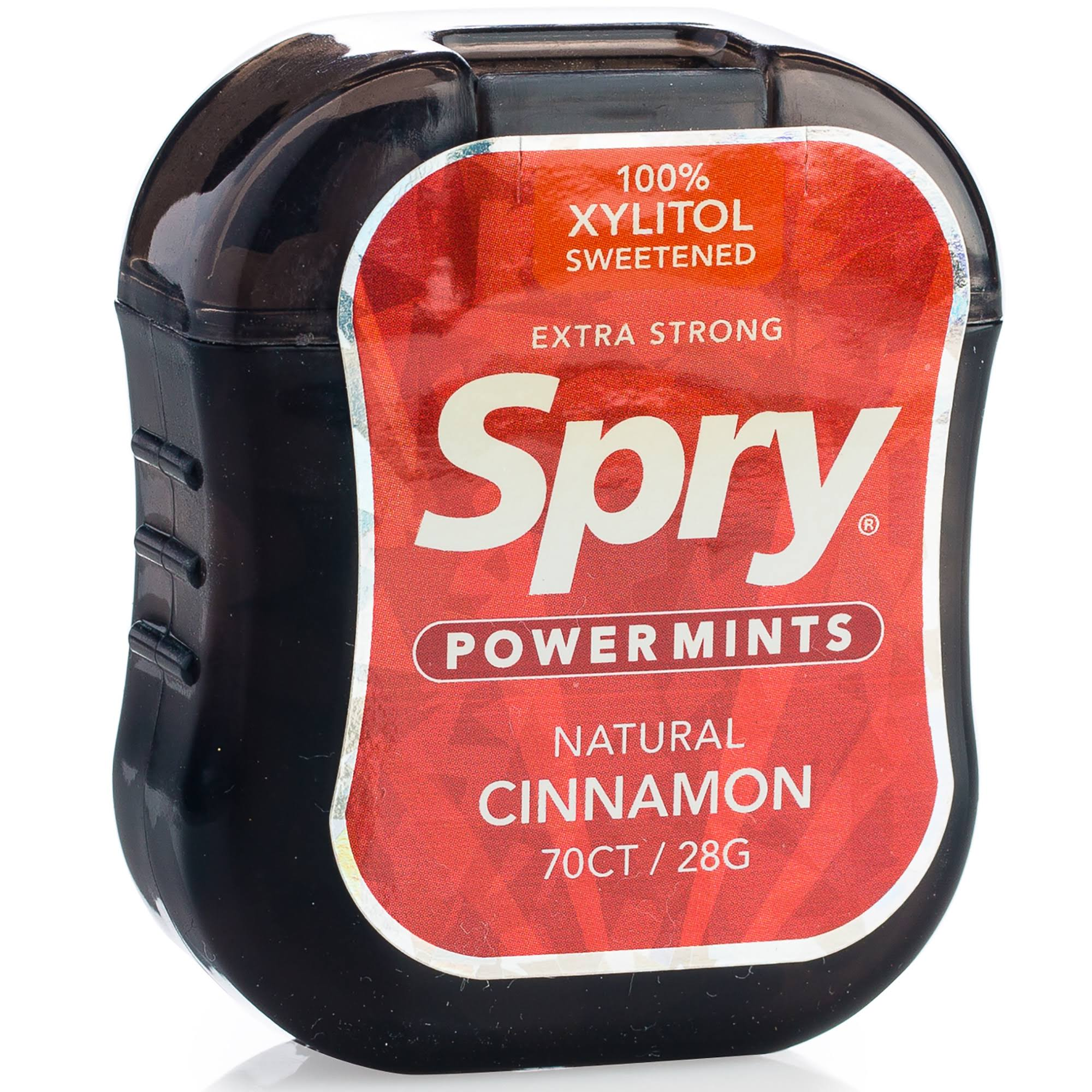 Spry Extra Strong Xylitol Power Mints - Cinnamon, 70ct