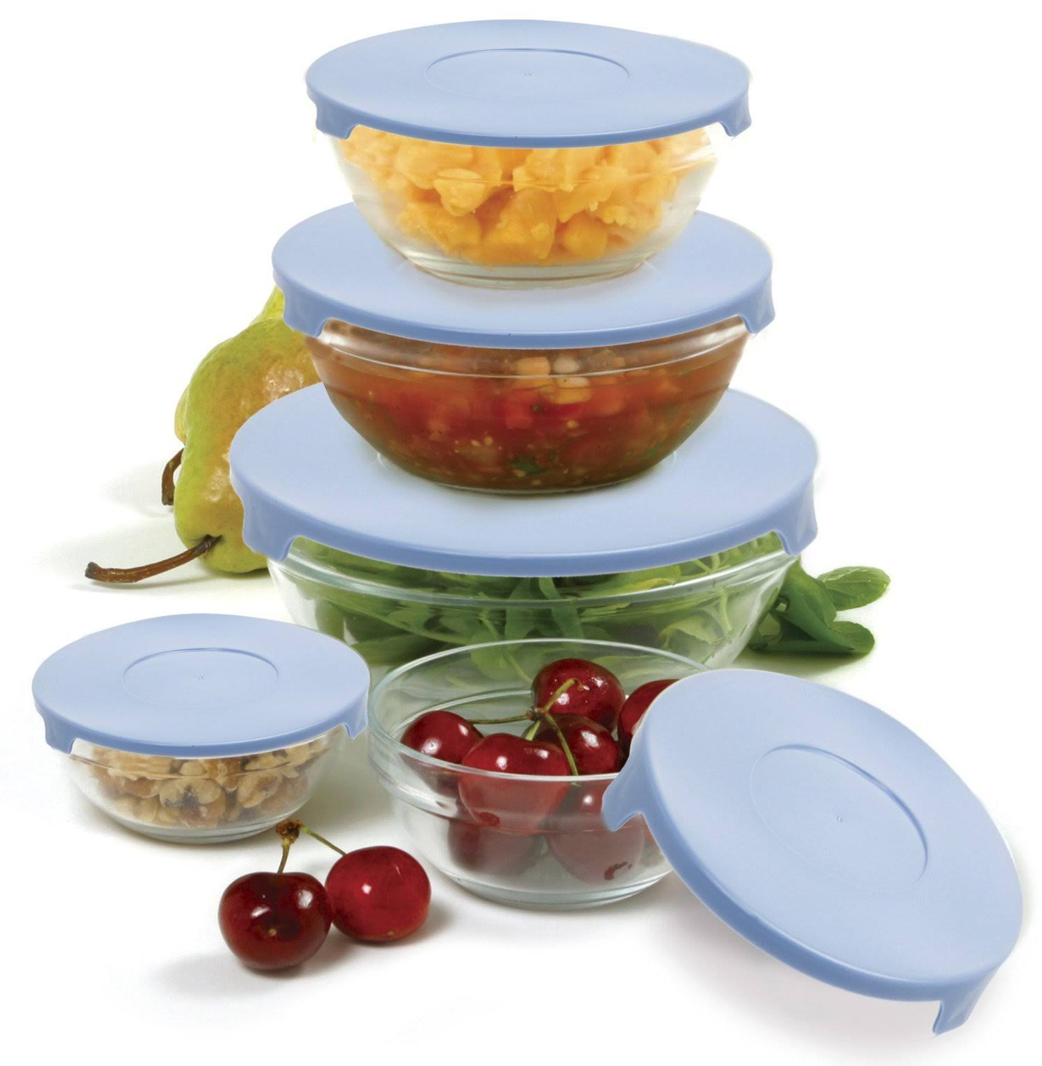 NorPro 10-Piece Nesting Mixing/Storage Bowl & Lid Set, Assorted