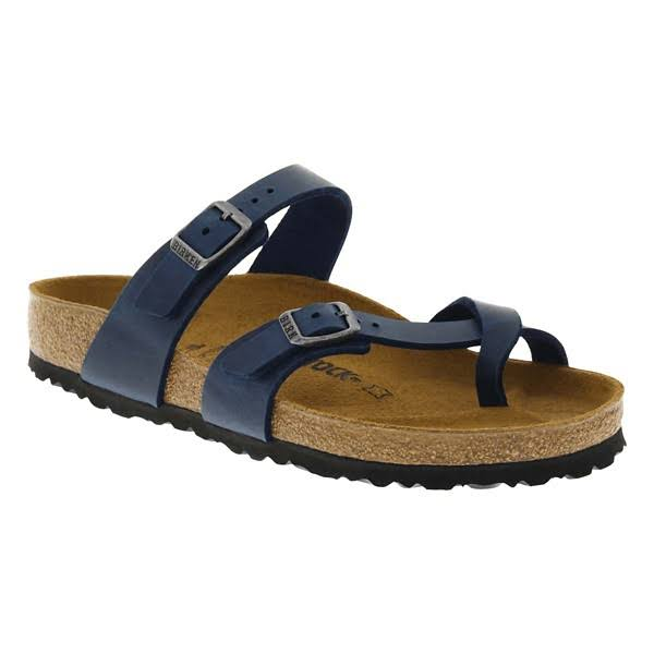 Birkenstock Women's Mayari Sandal - 39 - Blue Oiled Leather