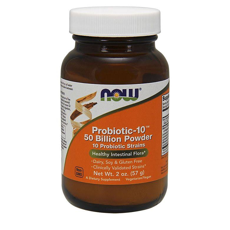 Now Probiotic-10 50 Billion Powder Dietary Supplement - 57g