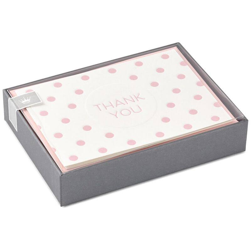 Pink Polka Dot Thank You Notes, Box of 10