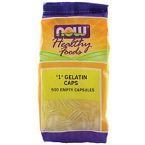 Now Foods Empty Capsules Gelatin #1 500 Gel Caps
