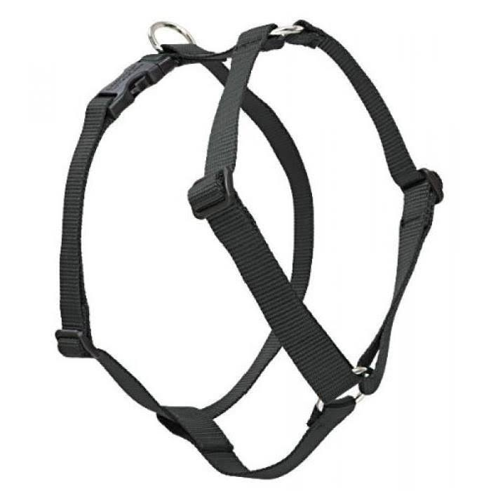 "LupinePet Roman Dog Harness - 3/4"", Black, 14-24"""