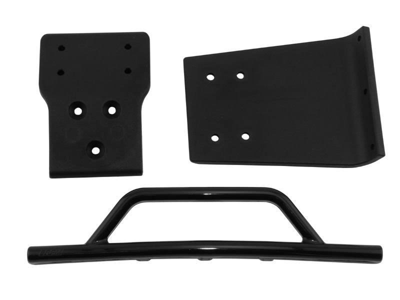RPM Traxxas Slash Front Bumper and Skid Plate - Black, 4x4