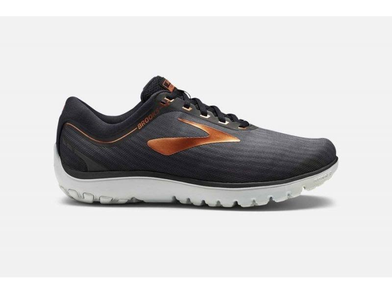 Brooks Men's PureFlow 7 Running Shoes - Gray, Black & Copper, Size 14 US
