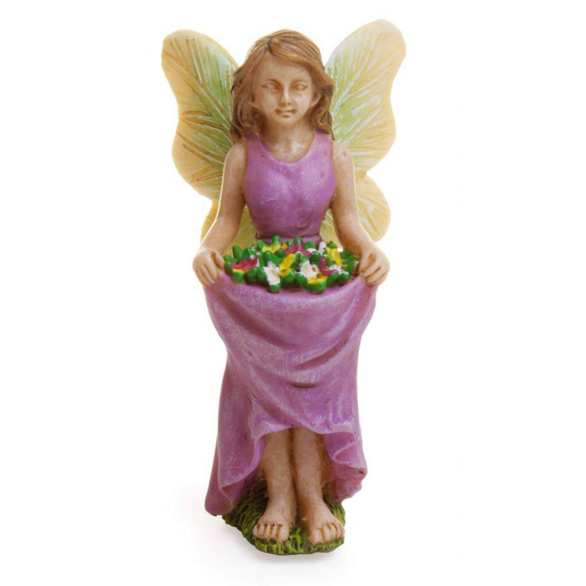 Marshall Miniature Garden Ornament - Skirt Full of Flowers Fairy