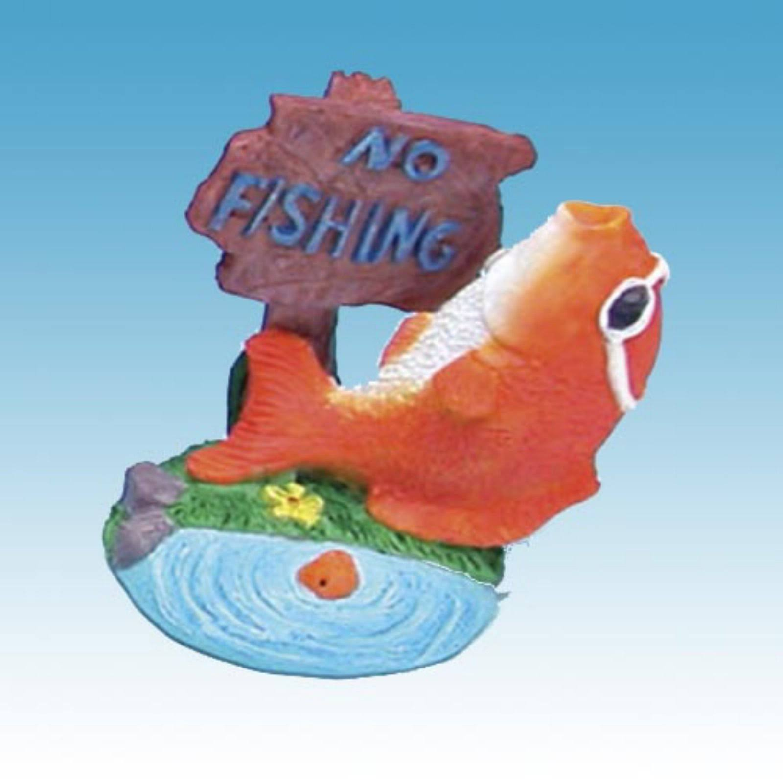 Penn Plax Mini No Fishing Aquarium Ornament