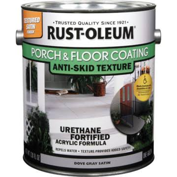 Rust-Oleum Porch and Floor Coating - Dove Gray Satin, 1gal