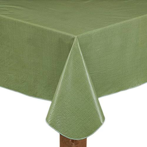 Cafe Deauville Sage 60x120 Oblong Rectangle Vinyl Tablecloth Kitchen