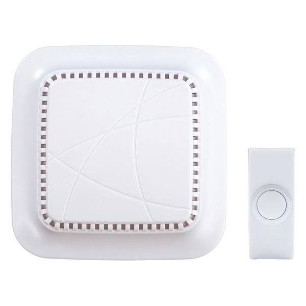 Heath Zenith Sl-7309-03 Wireless Door Chime Kit, White