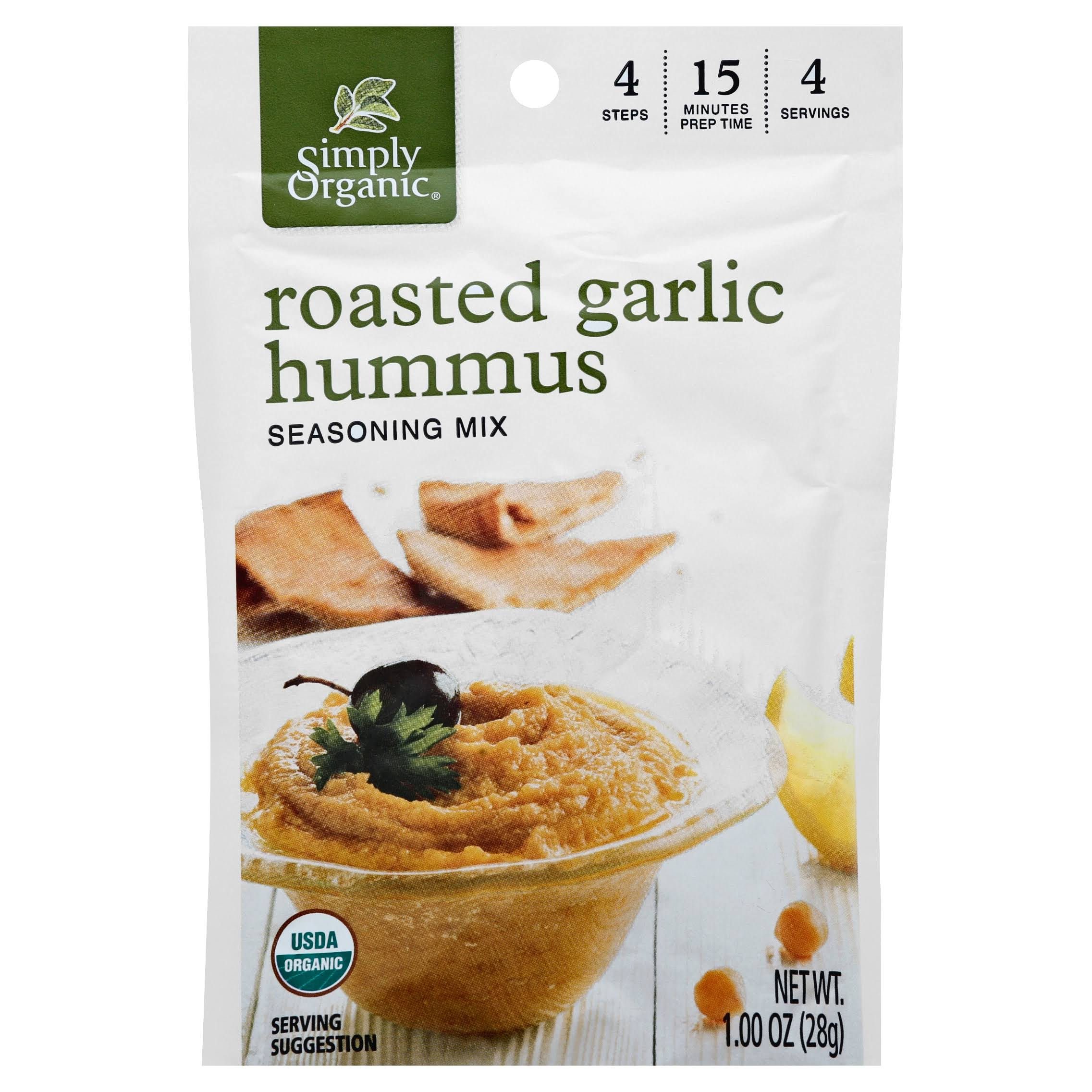 Simply Organic Hummus Seasoning Mix - Roasted Garlic, 28g