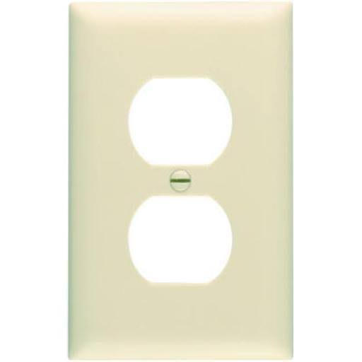 Pass and Seymour Duplex Outlet Wall Plate - Ivory Nylon
