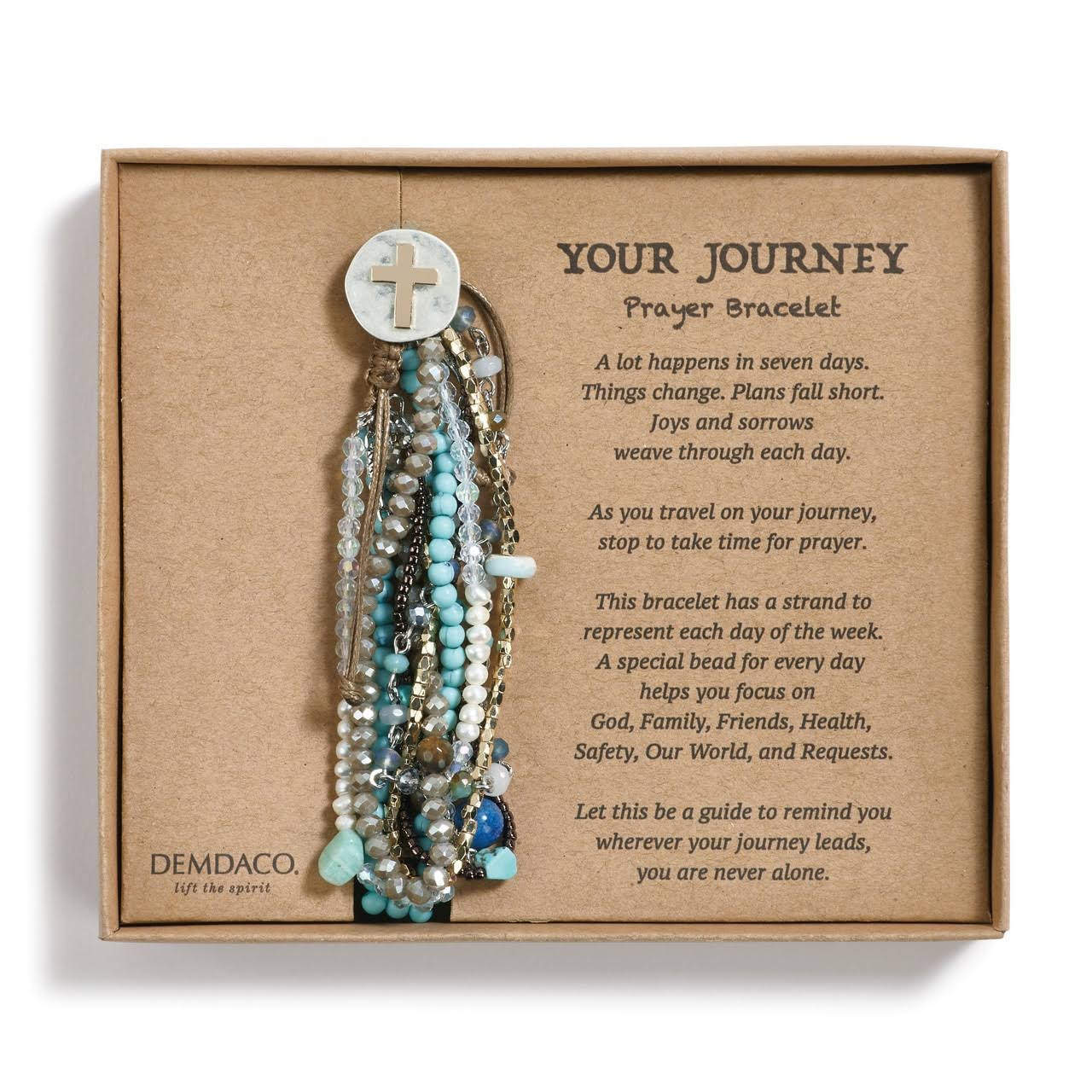 Demdaco Turquoise Your Journey Prayer Bracelet