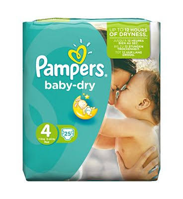 Pampers Baby Dry Diapers - Size 4, 25pcs