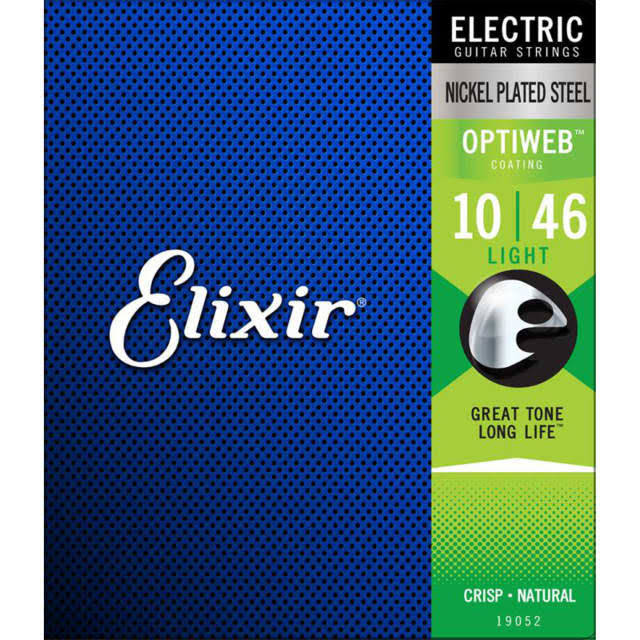 Elixir Optiweb Electric Guitar Strings Light 19052
