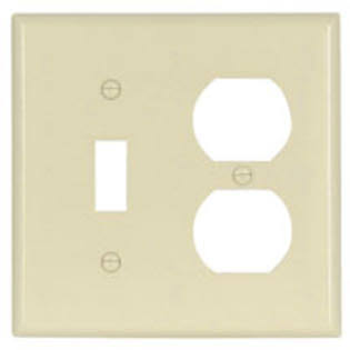 Cooper Wiring 2138LA-BOX Switch & Duplex Receptacle Plate - 2Gang