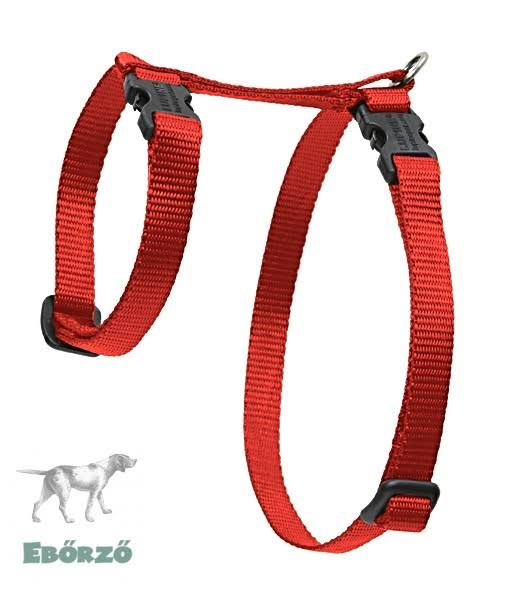 "LupinePet Basics H-style Harness for Small Pets - 1/2"" x 12-20"", Red"