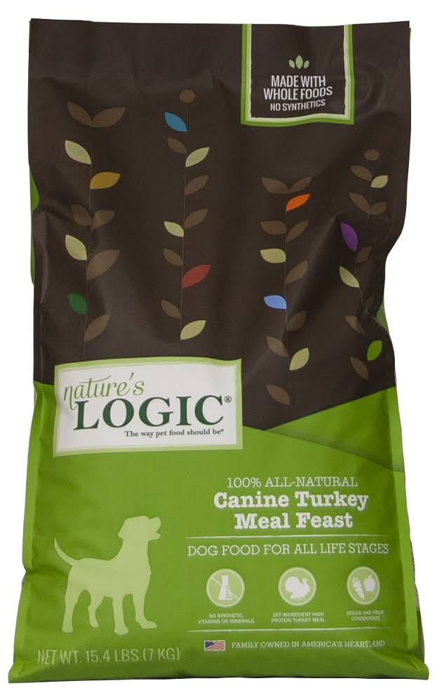 Nature's Logic Canine Turkey Meal Feast Dry Dog Food - 26.4-lb