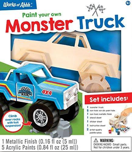 Masterpieces Monster Truck Wood Paint Kit