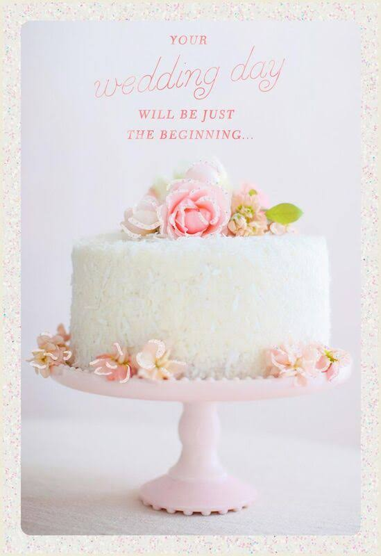 White Cake Wedding Card