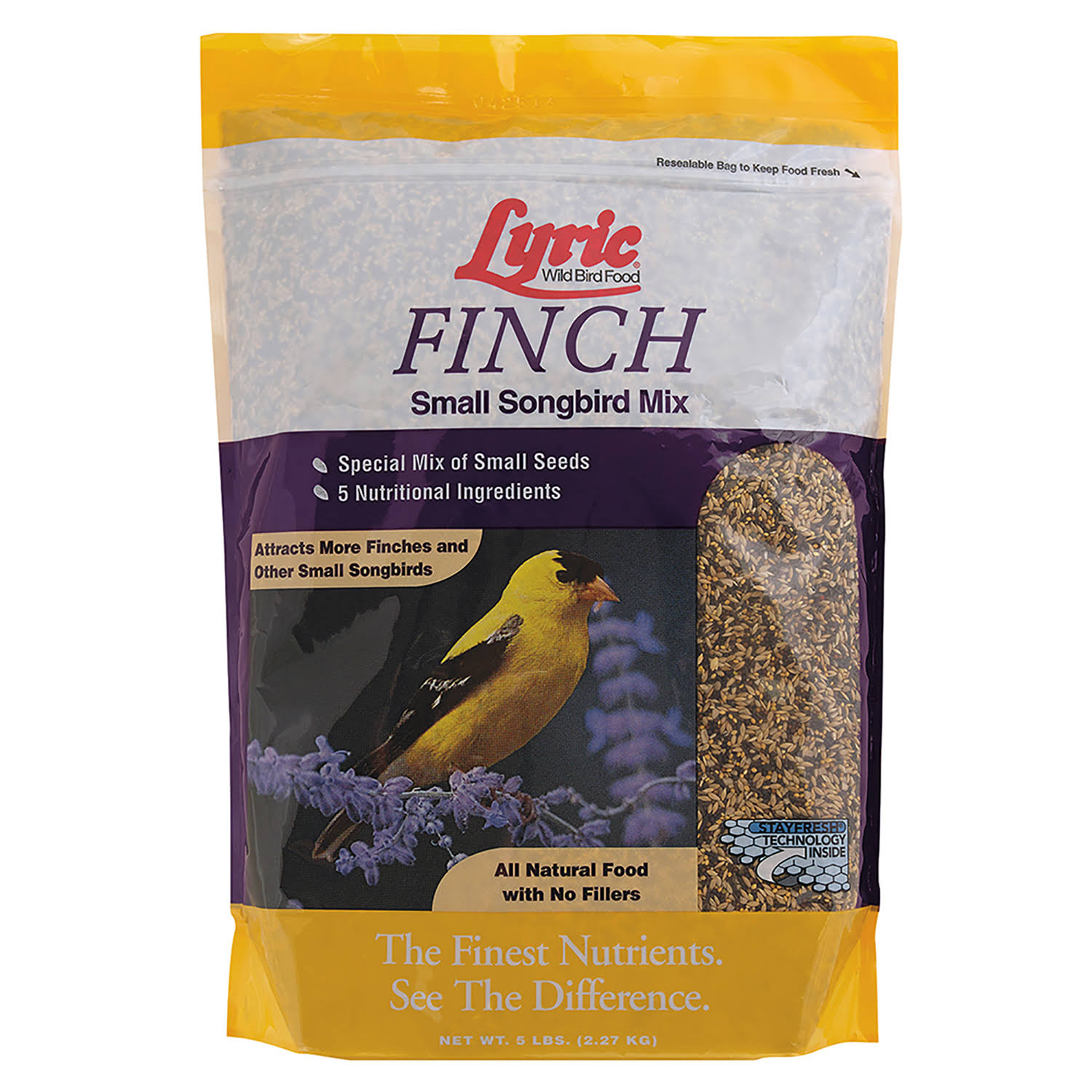 Lebanon Lyric Finch Wildbird Mix Seeds Bird Food - 5lbs