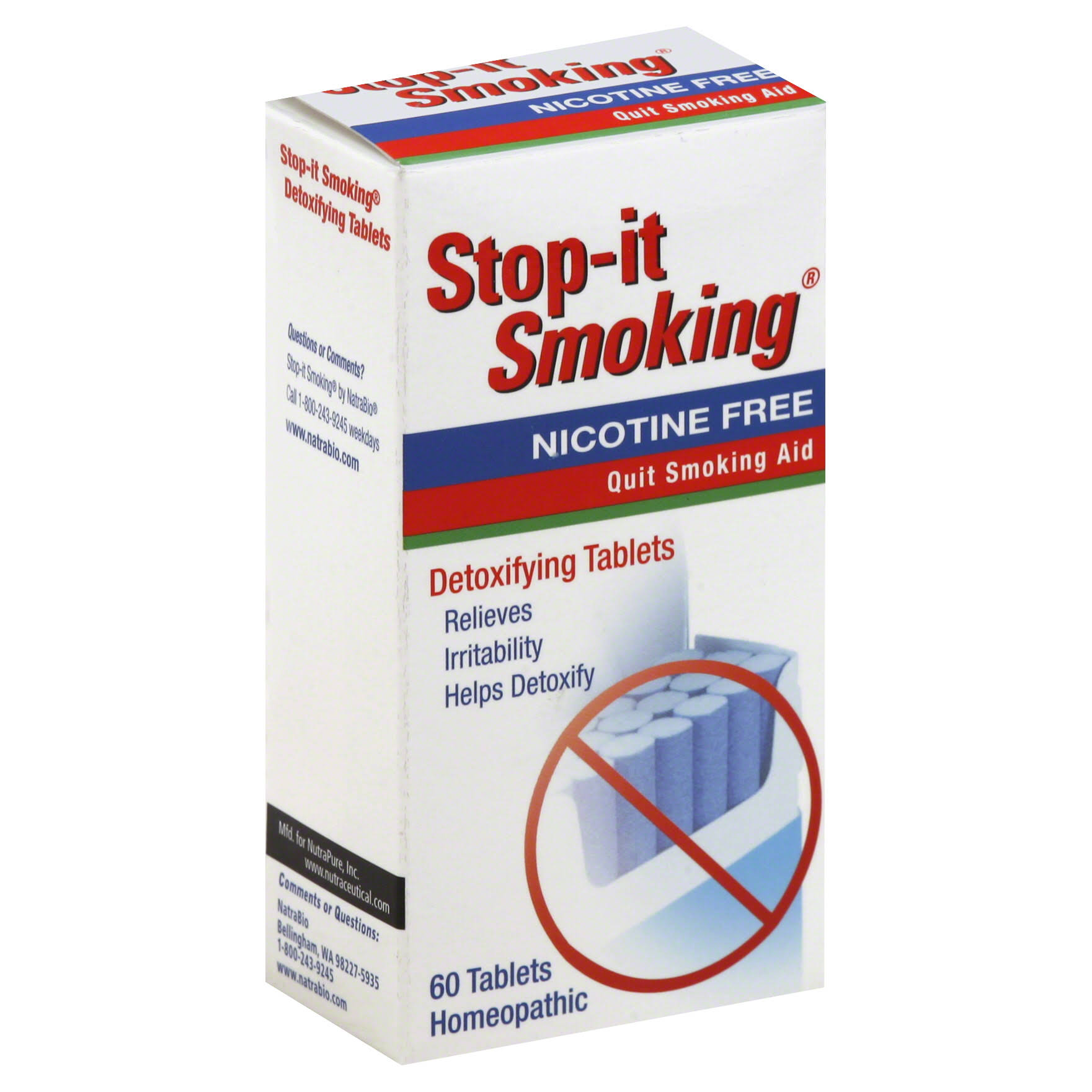 Natrabio Stop It Smoking Detoxifying Tablets - x60