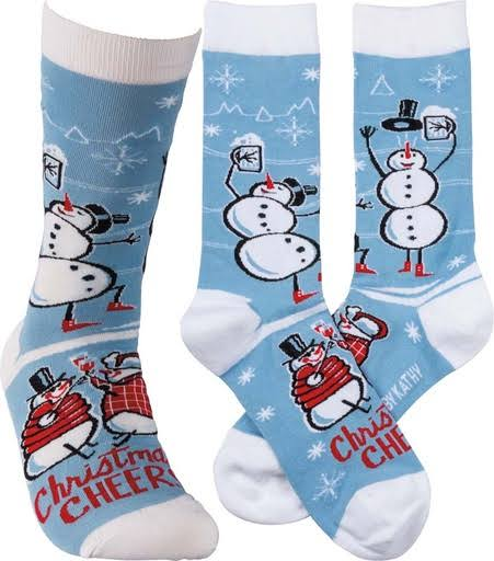Primitives by Kathy Unisex Christmas Cheer Socks - Snowman