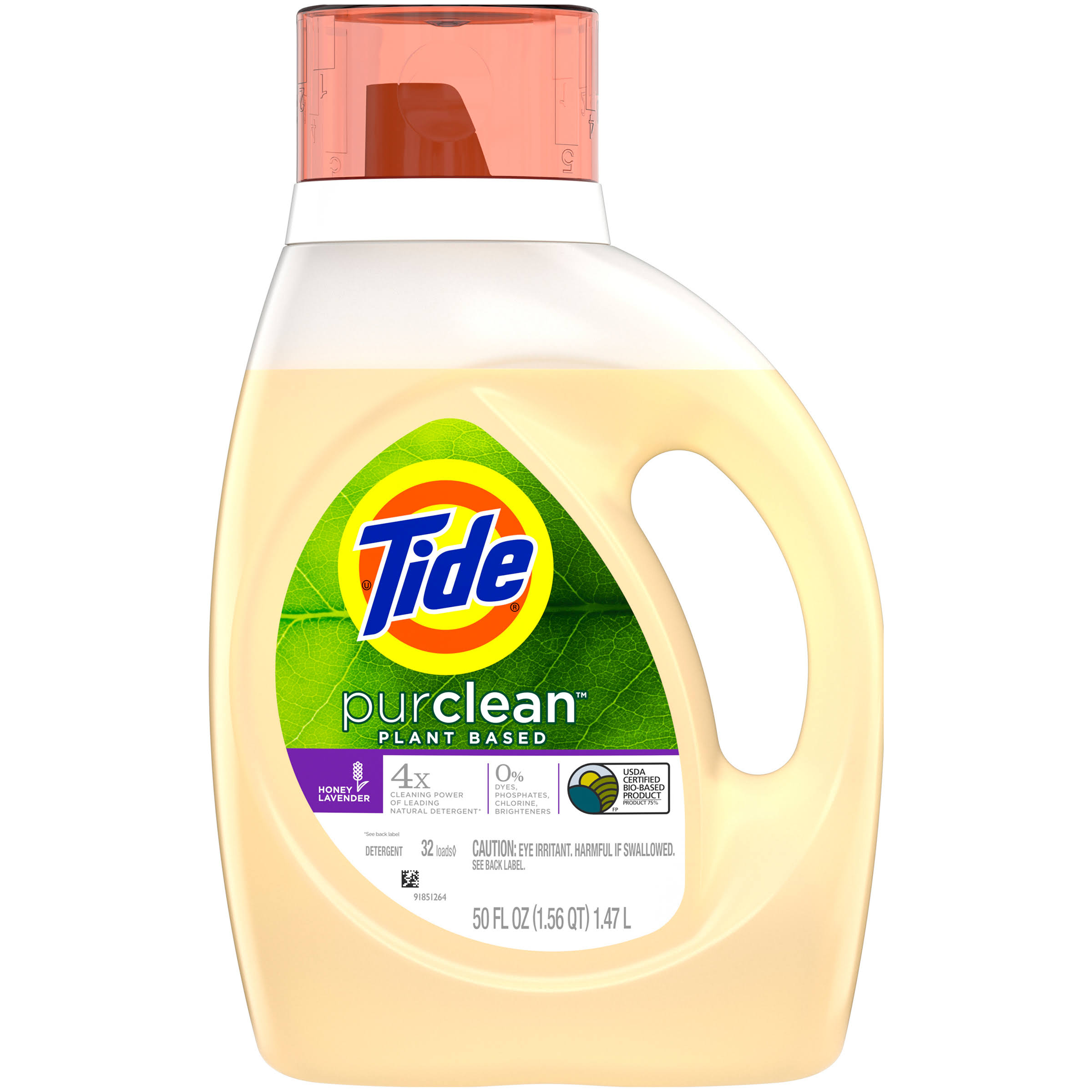 Tide Purclean Liquid Laundry Detergent - Honey Lavender Scent, 32 Loads